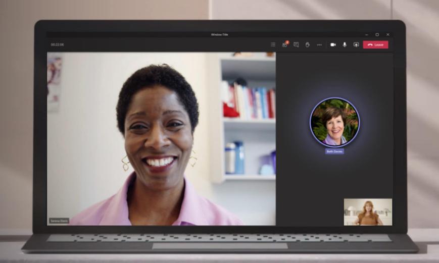 Microsoft Teamsの通話画面(PC)